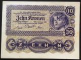 Bancnota ISTORICA 10 COROANE - AUSTRO-UNGARIA (AUSTRIA), anul 1922   *cod 867 E