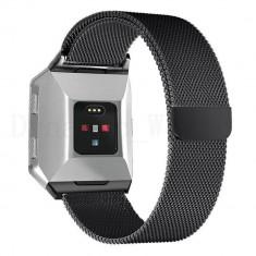 Curea magnetica compatibila FitBit Charge 2, S, metalica, negru