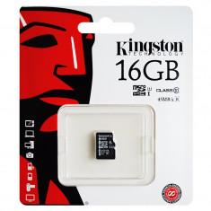 Card microSD Kingston, 16 GB, clasa 10
