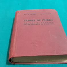 TABELE DE CUBAJ PENTRU CHERESTEA DE RĂȘINOASE ȘI FOIOASE
