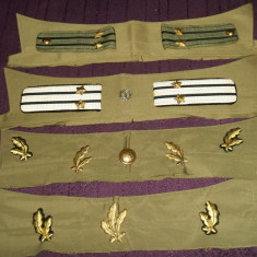 Lot efecte militare ofiter armata RSR - epoleti, petlite, nasturi