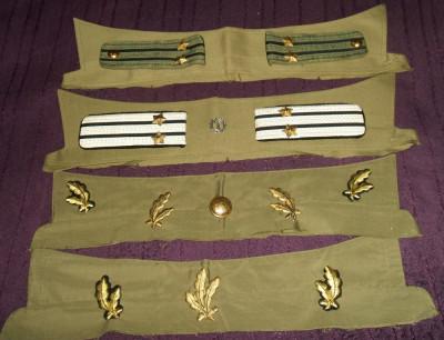 Lot efecte militare ofiter armata RSR - epoleti, petlite, nasturi foto