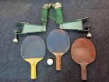 Set fileu tenis de masa + Palete. Fileu vechi tenis de masa / Ping Pong.