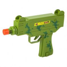 Arma de jucarie pentru copii, model pistol-mitraliera uzi cu sunete si vibratii, 22 cm