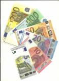 Bancnote Euro-Set 5, 10, 20, 50, 100, 200 Euro-Prop Money (Movie Money, Fake)