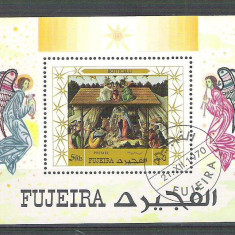Fujeira 1970 Painting, Botticelli, perf. sheet, used AB.046