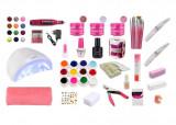 Cumpara ieftin Set Kit unghii Top,lampa uv led SunOne,freza electrica,geluri BaseOne, accesorii