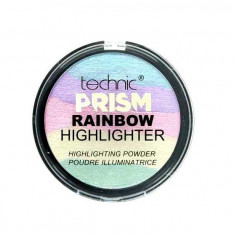 Paleta Iluminatoare Multicolora TECHNIC Prism Rainbow Highlighter Powder 6g