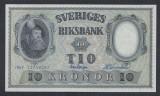 A5137 Sweden Suedia 10 kronor 1957 SEMNATURI DIFERITE UNC