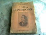 ISTORIA LITERATURII ROMANE, COMPENDIU - G. CALINESCU