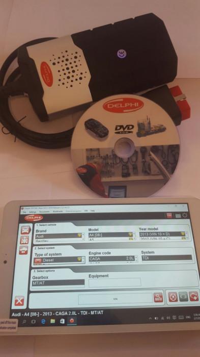 Tester Auto DELFI2 2017 + WOW 2018 cu Bluetooth Romana , Tableta Inclusa !