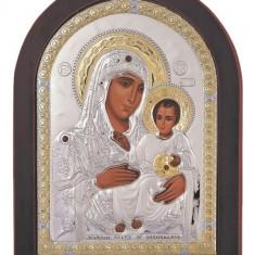 Icoana argintata Maica Domnului de la Ierusalim 7.5x9.5 cm Cod Produs 1646