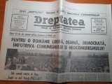 """ziarul dreptatea 24 aprilie 1990-art """"Dupa 44 de ani,primul miting electoral.."""""""