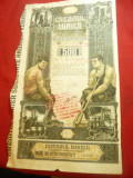Actiune Creditul Minier- 500 lei 1923 -cu stampila de marire capital 1946