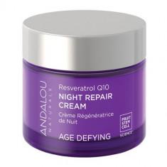 Resveratrol Q10 Night Repair Cream, 50g, Andalou