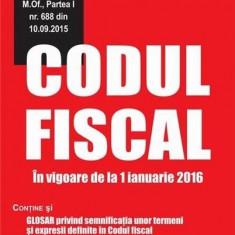 Codul fiscal. In vigoare de la 1 ianuarie 2016 |