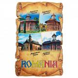 Magnet Manastiri din Romania, lemn, Alexer