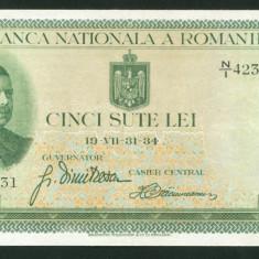 u333 ROMANIA 500 LEI 1934  APROAPE NECIRCULATA aUNC