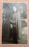 Ofiter-elev cu sabie. Fotografie datata 1925, Bacau - Foto-Lux Zalevsky