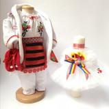 Cumpara ieftin Set Traditional Botez Fetita - Costumas + Lumanare 2