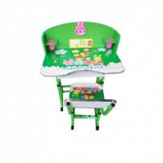 Birou Copii cu masuta, etajera si scaun KT0539 Verde