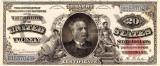 20 dolari 1886 Reproducere Bancnota USD , Dimensiune reala 1:1