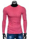 Bluza pentru barbati din bumbac rosu simpla slim fit L103