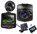 Camera auto Dubla iUni Dash 806, Full HD, 2.5 Inch, 170 grade, Parking monitor, G senzor, Black + Card 16GB