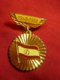 Insigna Club Dinamo - 40 Ani ,metal si email , h=3,6cm