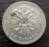 (A831) MONEDA DIN ARGINT YUGOSLAVIA - 20 DINARA DINARI 1931, ALEKSANDAR I