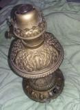 LAMPA PETROL VECHE DE COLECTIE Gravata GEBRUDER Bruner Wien,lampa fitil,T.GRATUI