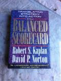 THE BALANCED SCORECARD - ROBERT S. KAPLAN (CARTE IN LIMBA ENGLEZA)
