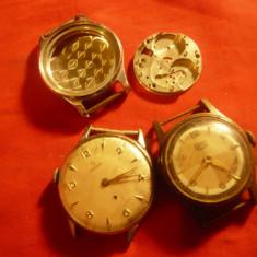 Set 2 Ceasuri, 1 mecanism si piese de ceasuri  Omega, UMF- defecte pt. piese