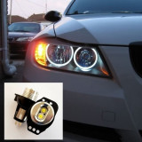 Led Marker Alb Angel Eyes 12W BMW Seria 3 E90 E91 - Set Becuri LED Far