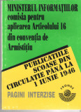 Publicatiile scoase din circulatie pana la 1 iunie 1946 - Ed. Fronde brosata