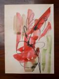 32. Plante, acuarela veche pictura