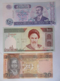 Lot 3 bancnote UNC:Iraq,Iran,Sudan