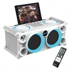 Boxa portabila profesionala, dock tableta, tuner FM, USB, baterie reincarcabila, 120 W