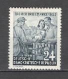 D.D.R.1953 Ziua marcii postale  MD.29