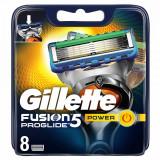 Set 8 rezerve pentru aparat de ras Gillette Fusion Proglide Power, 5 lame