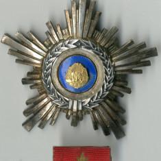 Ordinul Steaua Republicii Socialiste Romania Cl. a IV-a Argint Ag Panson Marcaj
