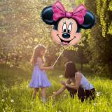 Balon gigant Red Minnie Mouse 62x62 cm, din folie, aer si heliu