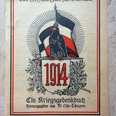 WW1 Propaganda de razboi.Mit Herz und Hand fürs Vaterland 1915.Raritate.