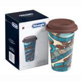 Cana ceramica, perete dublu termic, Delonghi The Taster, 300ml, capac silicon