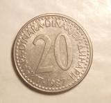 YUGOSLAVIA 20 DINARI 1987, Europa