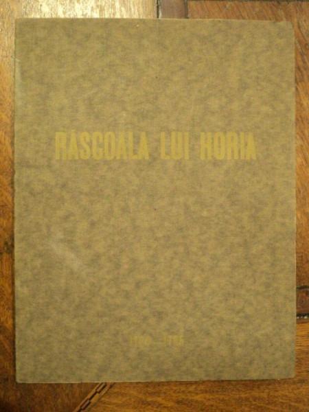 "OCTAVIAN BEU , EXPOZITIA COMEMORATIVA "" RASCOALA LUI HORIA "" , 1935"