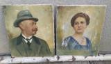 Set doua tablouri vechi semnate  portrete unguri