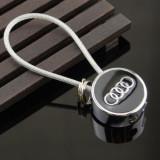 Breloc auto pentru AUDI metal si detaliu cauciuc + ambalaj cadou