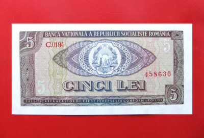 ROMANIA  -  5 Lei 1966  -  aUNC foto
