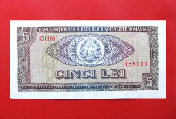 ROMANIA  -  5 Lei 1966  -  aUNC